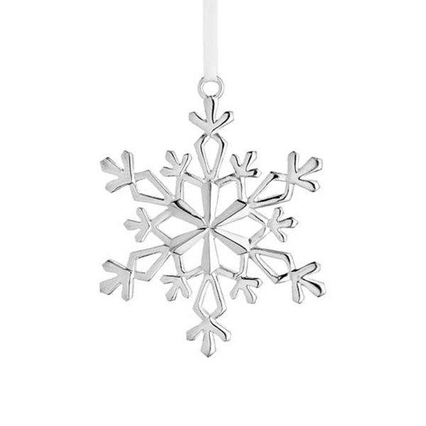 2015 Lunt Silver Snowflake Ornament   Silver Superstore