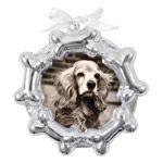 Mariposa Dog Bone Frame Recycled Aluminum Ornament