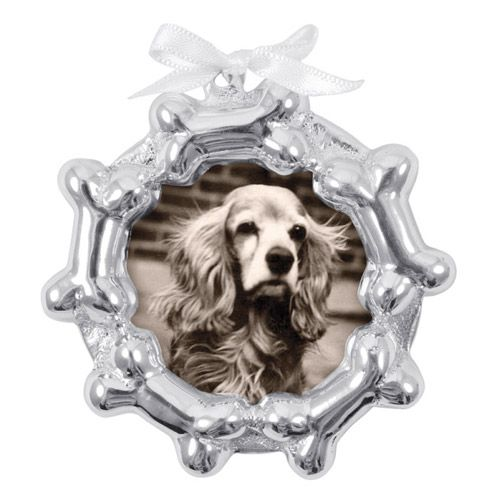 2014 Mariposa Dog Bone Frame Ornament