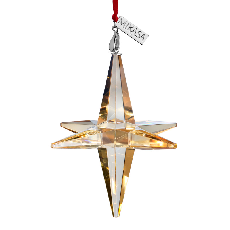 Mikasa Amber Snowflake 2016   Mikasa Christmas Ornament   Christmas ...