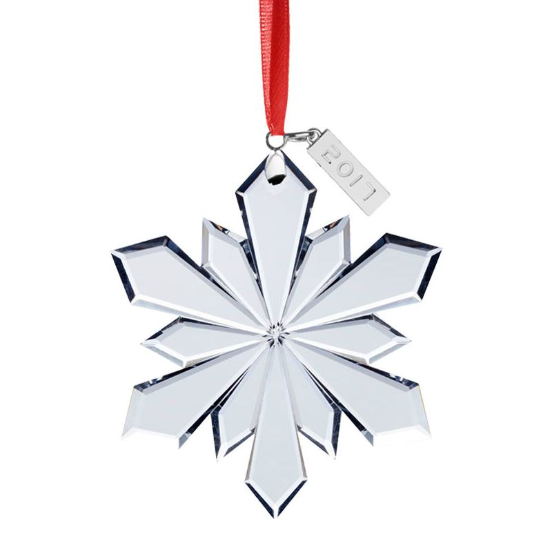0185e71a3 Crystal Snowflake Christmas Tree Decoration | Mikasa Ornaments | 2017 Crystal  Snowflake
