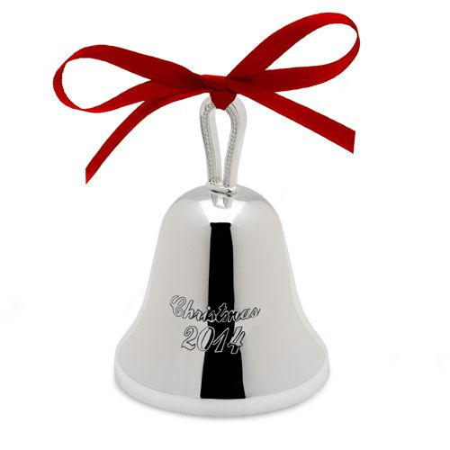Mikasa annual silver bell christmas ornament