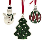Mikasa Sparkle Ornaments, Set of 3 Christmas Ornaments