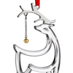 Reindeer | Nambe  Christmas Tree Decoration | Christmas Reindeer Ornament