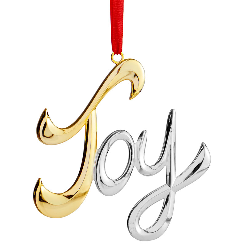 Joy Christmas Ornament | Nambe | Silver Superstore