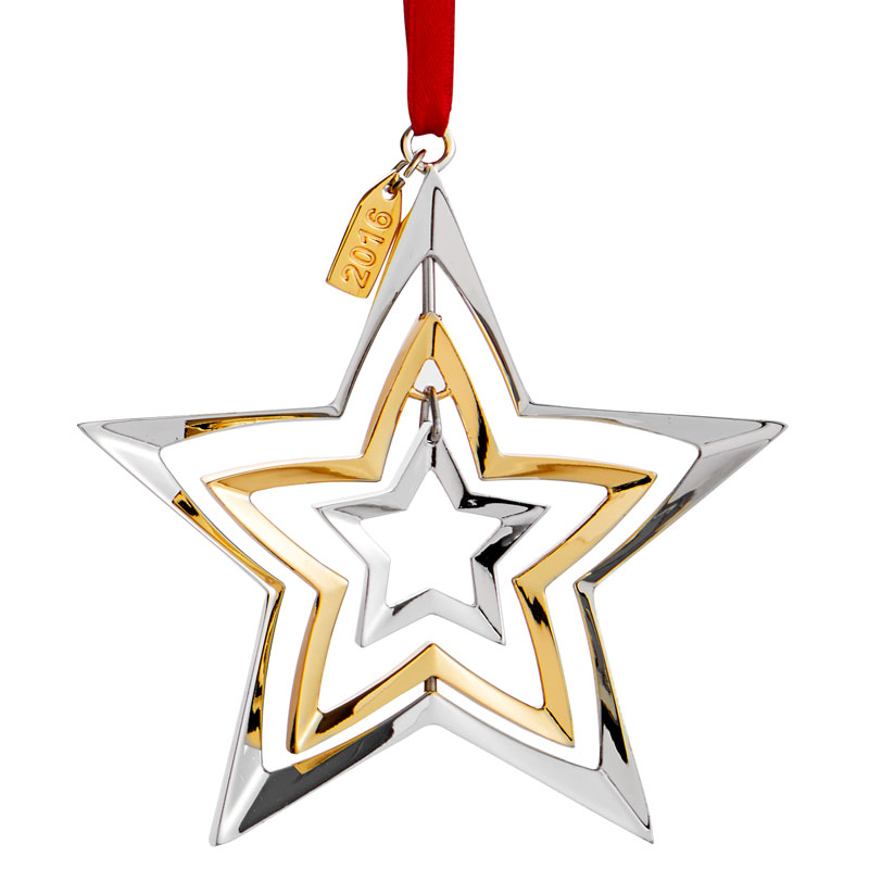 Nambe Annual Ornament, 2016 | Star Ornament | Silver ...