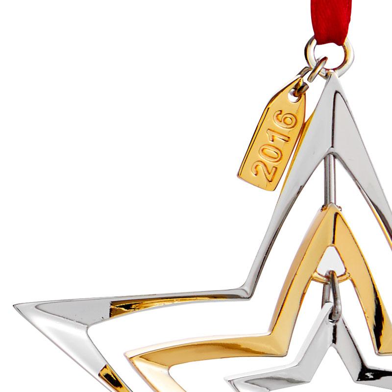 Nambe Annual Ornament, 2016 | Star Ornament | Silver ...