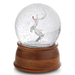 Nambe Rudolph the Red Nosed Reindeer Snow Globe