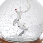 Rudolph the Red Nosed Reindeer Snow Globe | Nambe Christmas Tree Decoration | Musical Snow Globe