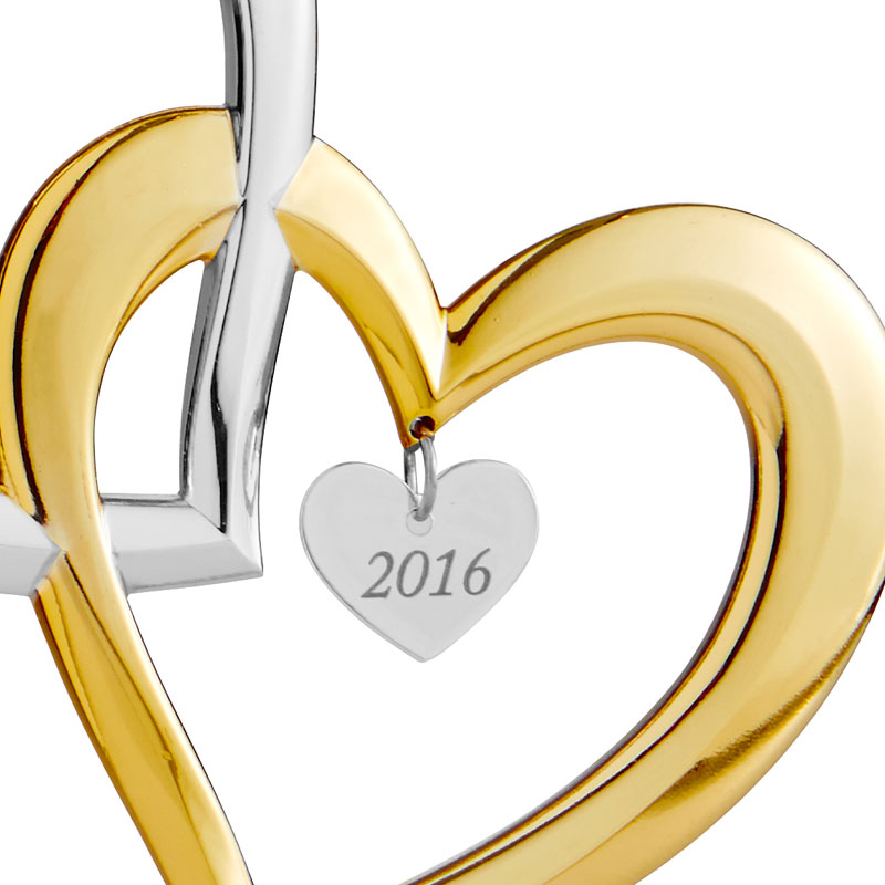 Our First Christmas Ornament 2016 Hearts  Nambe  Silver Superstore
