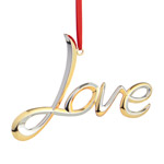 Nambe Love Silver Plate Christmas Ornament