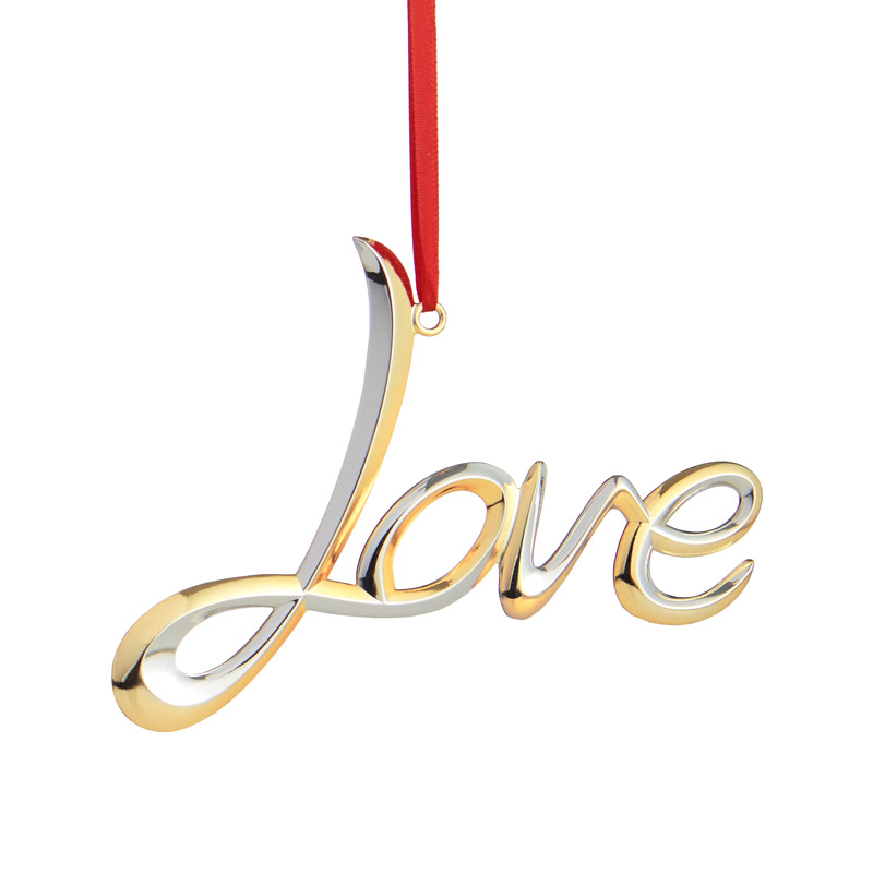 Love | Nambe Christmas Tree Decoration | Love Ornament