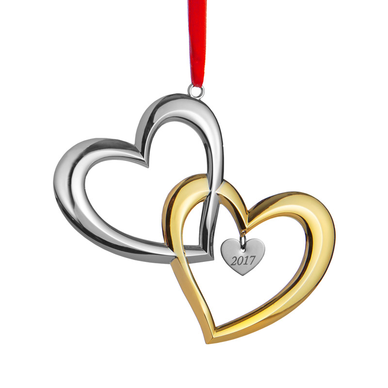 Our First Christmas Ornament 2017 Hearts  Nambe  Silver Superstore