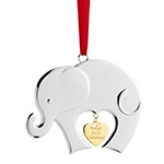 2017 Nambe Baby's First Christmas Silver Ornament