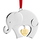 2019 Nambe Baby's First Silverplate Christmas Ornament