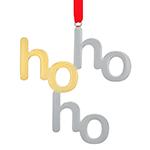 2019 Nambe HO HO HO Silverplate Christmas Ornament