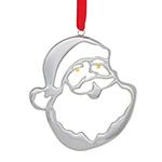 2018 Nambe Santa Silver Ornament