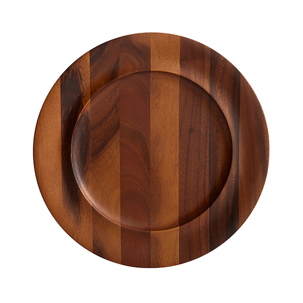 Nambe Skye Wood Charger Plate