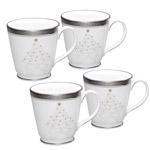 Noritake Crestwood Platinum Holiday Accent Mug by Noritake