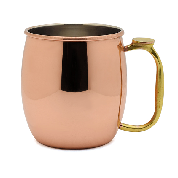 22oz Moscow Mule Mug in Solid Copper