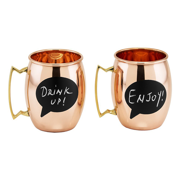 Chalkboard Moscow Mule Mugs by Old Dutch International
