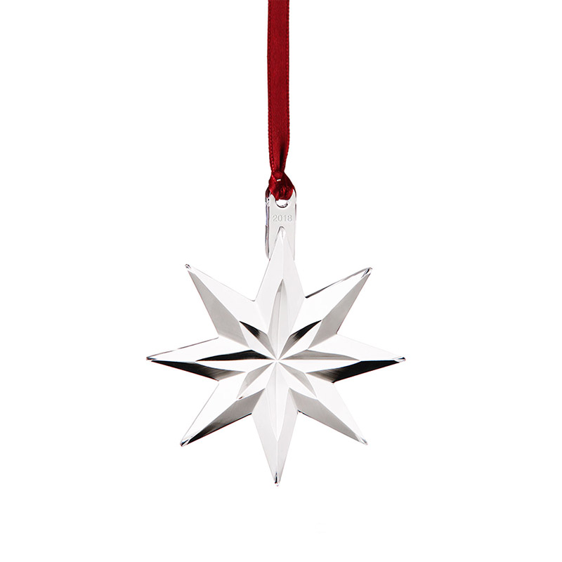 Orrefors Annual Christmas Ornament Star 2018crystal Christmas Ornament By Orrefors
