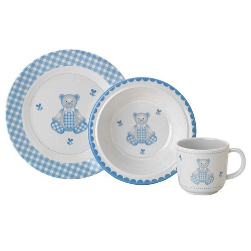 Reed and Barton Gingham Bear 3-pc Dinner Set  sc 1 st  Silver Superstore & Reed and Barton Gingham Bear Melamine Childrenu0027s Dinnerware