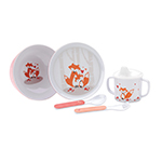 Reed and Barton Hazelnut Hollow Fox Childrens Set