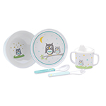 Reed and Barton Hazelnut Hollow Owl Childrens Set