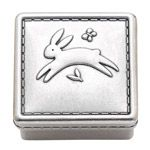 Reed & Barton Quilted Rabbit Pewter Baby Gifts