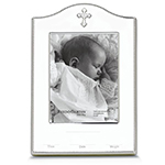 Reed & Barton Abbey Silver Plate Birth Record Picture Frame
