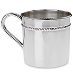 Reed and Barton Classic Bead Sterling Silver Baby Cup