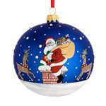 2015 Classic Christmas Santa Ball Glass Ornament