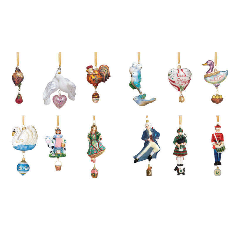 reed and barton 12 days of christmas collection christmas tree decoration reed and barton ornaments - 12 Days Of Christmas Decorations
