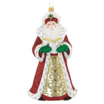 2016 Reed and Barton Folklore Santa Glass Decoration