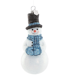 Snowflurries Snowman Ornament - Glass ornament by Reed and Barton