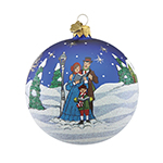Reed and Barton Caroler's Village Caroler's Ball Christmas Ornament