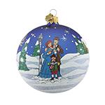Reed and Barton Caroler's Village Caroler's Ball Christmas Ornament