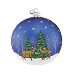 Reed and Barton Northpole Bound Reindeer Ball Christmas Ornament