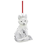 Reed and Barton Arctic Fox Christmas Ornament
