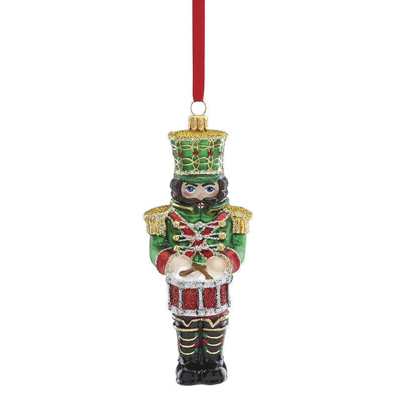 2018 reed and barton nutcracker with drum glass ornament reed and barton ornaments - Nutcracker Christmas Ornaments