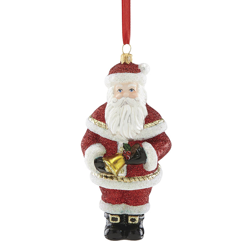 2018 reed and barton santa with bell glass ornament reed and barton ornaments