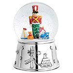 Reed and Barton Toy Soldier and Friends Musical Silver Snowglobe