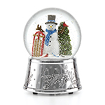 Reed and Barton Snowman and Sleigh Snow Globe