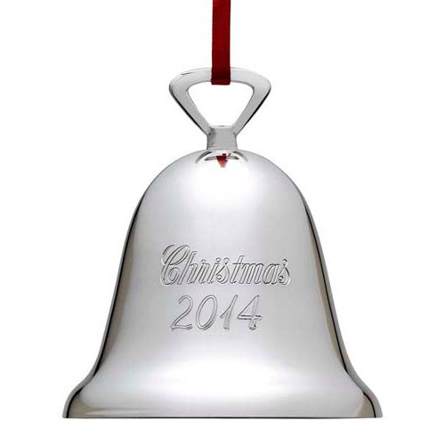 Reed barton annual christmas bell silverplate ornament