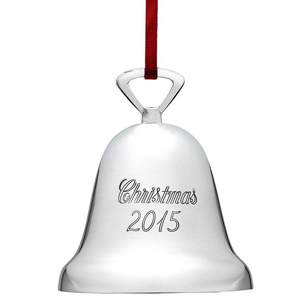 2015 Reed & Barton Annual Christmas Bell Silverplate Ornament
