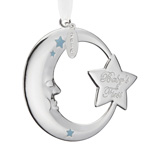 Reed and Barton Baby's First Christmas Ornament, Blue Moon and Star Design
