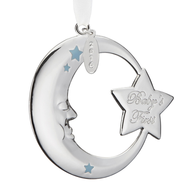 Reed and Barton 2016 Baby's First Christmas, Blue Moon Christmas Tree  Decoration | Reed and