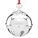 2016 Reed and Barton Holly Bell Silver Christmas Ornament