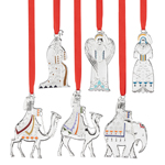 Reed and Barton Nativity Set Christmas Ornament Collection